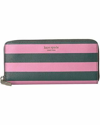 Kate Spade New York Sylvia Stripe Slim Continental Wallet in Pink Multi