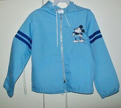 VINTAGE 1960/70s WALT DISNEY 'MICKEY MOUSE' BLUE CHILDRENS' HOODED JACKET size 7