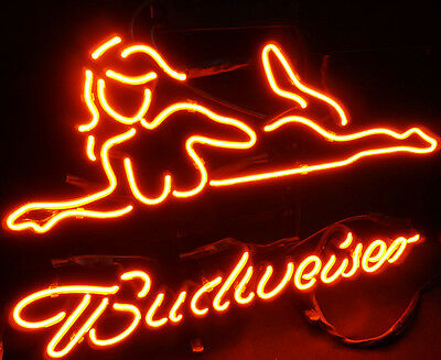 Bud wiser Sexy Girl Neon Light Eye-catching Man Cave Decor Display Bar Neon Sign