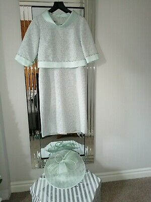 Mother Of the Bride Outfit - LIZABELLA--With Hat Size - 12 - Mint Green Sparkly