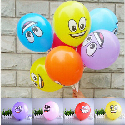 Happy Inflatable Birthday Party Big Eyes Smiley Decoration Latex Balloon