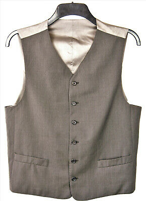 HUGO BOSS 100% Wool Mens Sleeveless Waistcoat UK 40 EU 50 Wedding Suit Vest
