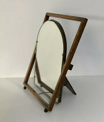 Vintage Antique Dressing Table Mirror - Tilting   Bevelled Top