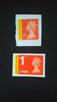 GB Royal Mail SGU 3049/50 Signed For Security - Pair 2013/17 Used (unfranked)