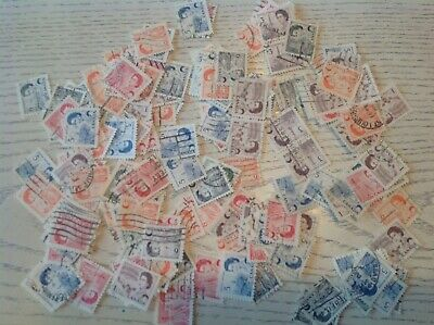 Mix Of 1500 Canada Used Stamps-off Paper. Queen Centennial Definitives