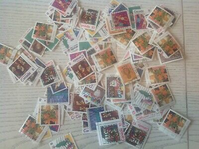 Mix Of 600 Canada Used Christmas Stamps-off Paper