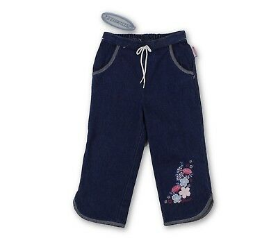 Sideout Little Girls Denim Stretchy Floral Blue Jeans Toddler Size 2T NWT