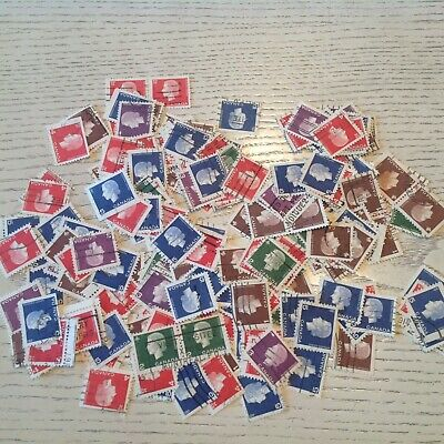 Mix Of 1500 Canada Used Stamps-off Paper. Queen Cameo Issue Unitrade 401-405