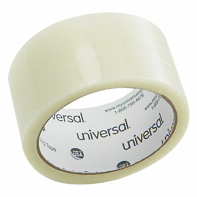"""/""""Universal Box Sealing Tape Clear 6//Pack UNV63120/"""" 3/""""/""""/""""/"""" Core 2/""""/""""/""""/"""" x 110yds"""
