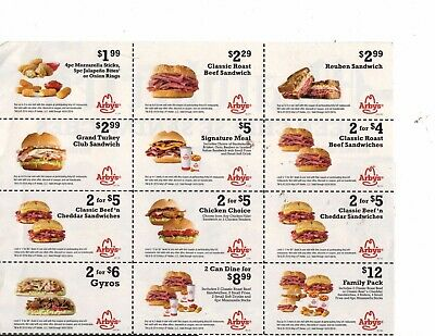 Arby's Coupons Expire 10/31/2019