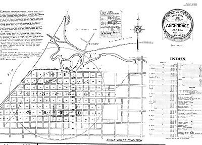 Anchorage, Alaska~Sanborn Map© sheets 11 maps on a CD made oin 1927