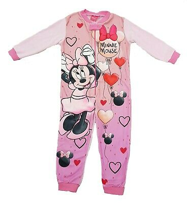 Girls Disney Minnie Mouse All In One Onezee Kids Minnie Nightwear Age 3-8 Years