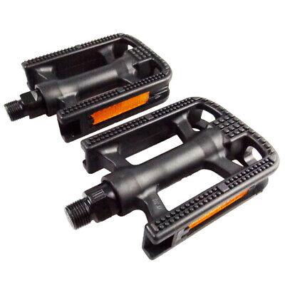 1/Pair Bicycle Pedals Road Mountain Black Flat Platform Pedals Cycling Equipment