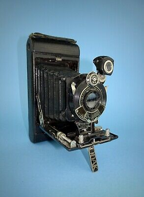 Early 1920s No 1 Pocket Kodak in good cosmetic condition - Diomatic shutter