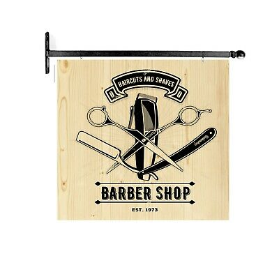 Insegna A Bandiera Parrucchiere Barbiere Targa Barber Shop Old Stile