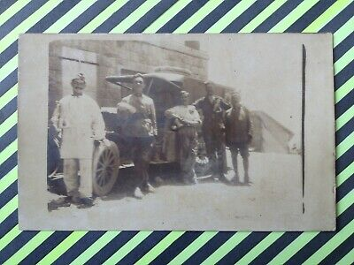 Carte Photo AUTOMOBILE MILITAIRES GUERRE Car Military War