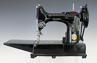 Rare 1960 Singer Free Arm Featherweight 222K Red S Sewing Machine With Case ++