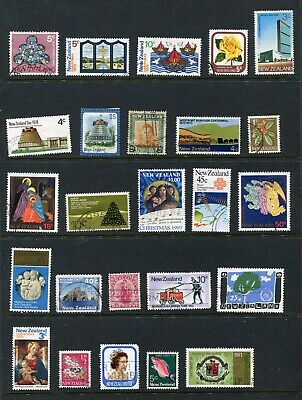 New Zealand Selection 3 Pages Assorted Stamps Used (CQ301)