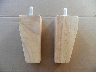 """Set Of 4 Nos Legs, 5"""" Wooden Wood Unfinished Raw Sofa Chair Ottoman Legs"""