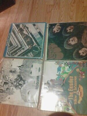 4 Vinyl LP Lot - the Beatles - Rubber Soul - Revolver - Blue Album - Yellow Subm