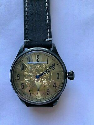 Marriage Watch 6497 (#3) 17J Art Deco dial pocket watch conversion