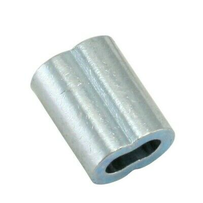 """1/2"""" Wire Rope Aluminum Sleeves (Oval Or 8 Shape) 100/Box"""