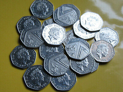 2017 50p ROYAL SHIELD OF ARMS  20 X CIRCULATED COINS   *COLLECTABLE LOW MINTAGE*