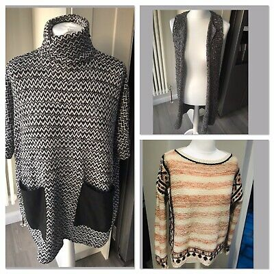 Womens Ladies JUMPER BUNDLE Knitted Size 8 10 M&S Oversized Primark River Island