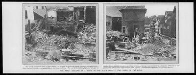1906 Antique Print - GERMANY NAGOLD Black Forest Fatal Hotel Collapse (50)