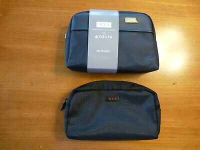 TUMI Delta First Class Mini Luggage Travel SOFT CASE Amenity Kit ~Business One~