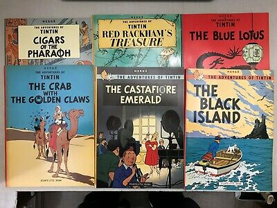 PRIMO:  HERGE Adventures of TINTIN comics lot of 13 for just $50 + ship