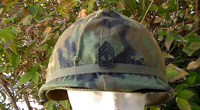Old US Army Vietnam War 1960s to 1970s era M-1 Helmet & 1980s Cover USED