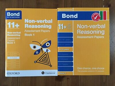 11+ Bond Non Verbal Reasoning Assessment Papers 9 - 10 Years Book 1 & 2
