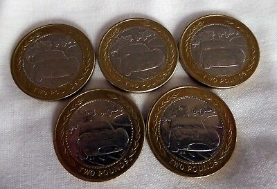 5 x Isle of Man Vintage Rally Car £2 Circulated Coins.  FREE P&P