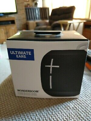 New Ultimate Ears WONDERBOOM Wireless Waterproof Bluetooth Speaker Phant Black