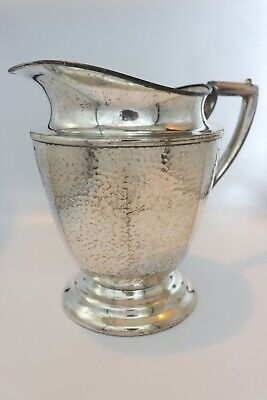 Silver Plated Vintage Nickle Silver Water Pitcher, Antique Collector Item 429-66