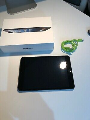 Apple iPad mini. 64GB, Wi-Fi + Cellular (Unlocked), Black, Working. MD542B/A