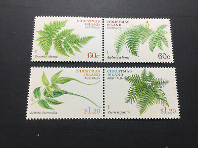 2012 Christmas Island - Ferns. Full set. Both Joined Pairs. Mint (MNH)