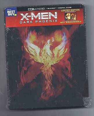 X-MEN -Dark Phoenix (4K ULTRA HD + BLU-RAY + DIGITAL CODE) STEELBOOK