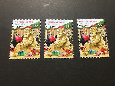 2012 Christmas Island - Christmas. 3 x 55 cents stamps. Mint