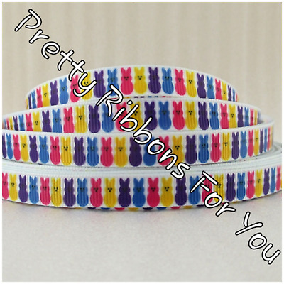 "RAINBOW  3//8/"" wide grosgrain ribbon the listing is for 8 1//5 yards total"