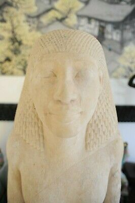 EGYPTIAN LIMESTONE BUST OF A MAN (after the antique)