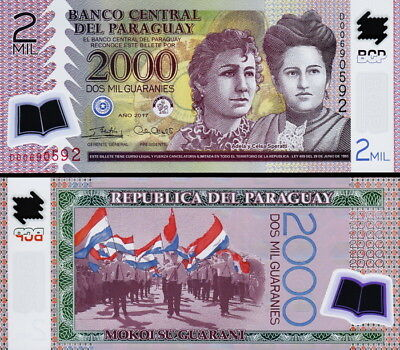 PARAGUAY - 2000 guaranies 2017 Polymer FDS - UNC