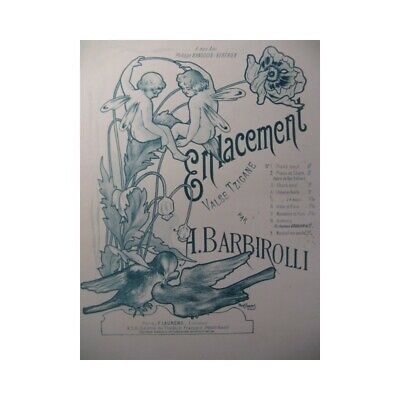 BARBIROLLI Alfred Enlacement Pousthomis Chant Piano partition sheet music score