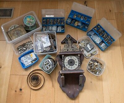 Clock parts, spares & large clock case