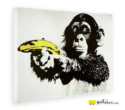 Print on canvas on wooden frame - Banksy - Schimmia banana pulp fiction - Fine a