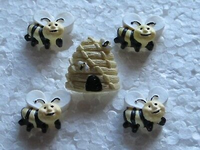 BEE HAPPY DRESS IT UP NOVELTY CRAFT BUTTONS NATURE INSECT BUG EMBELISHMENT FUN
