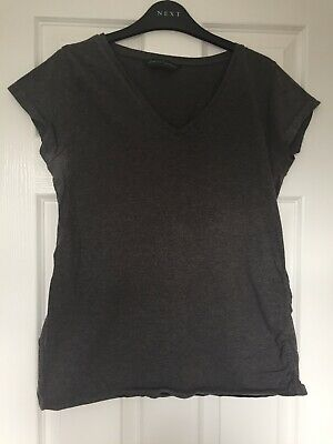 Blooming Marvellous Grey Maternity V Neck T-shirt Size L