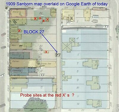 Woonsocket, SD~ Sanborn Map© sheets~3 maps made in 1909~TIFF formats made to JPG