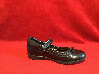 Girls CLARKS Black Patent Leather Mary Jane School Shoes - UK 12.5F EUR 31